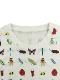 【8月中旬発送:予約商品】大人も!抗菌・防汚・消臭12昆虫大集合Tシャツ ホワイト オーガニックコットン使用