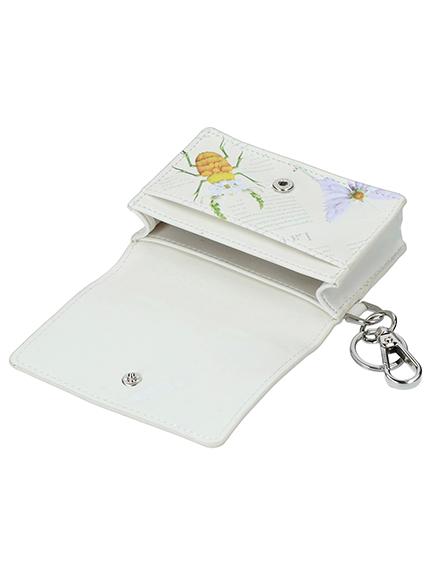 Encyclopedie アーティフィシャルレザーカードケース blanc