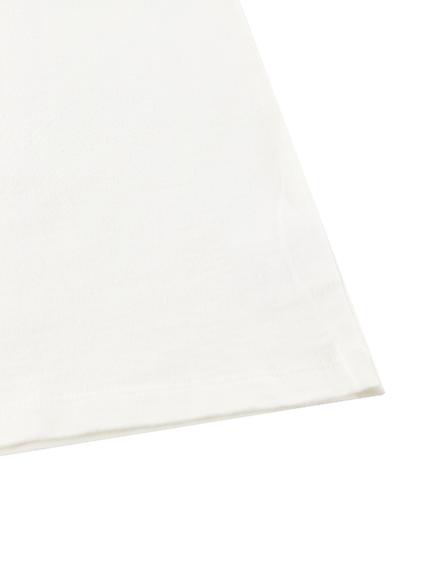 大人もほたるさんさんプリントTシャツ ホワイト オーガニックコットン使用
