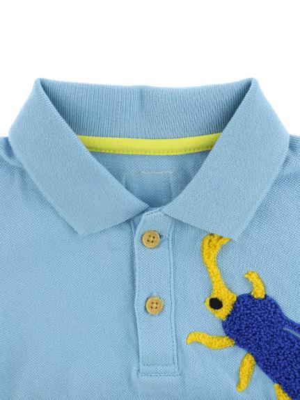 昆虫さがら刺繍ポロシャツ 6カラー