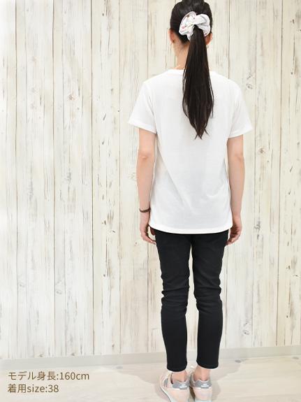 OTONA Nombre プリント100%再生ペットボトルTシャツ カマキリ3 blanc