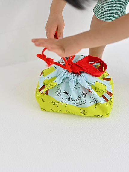 昆虫大集合ランチトート(巾着)