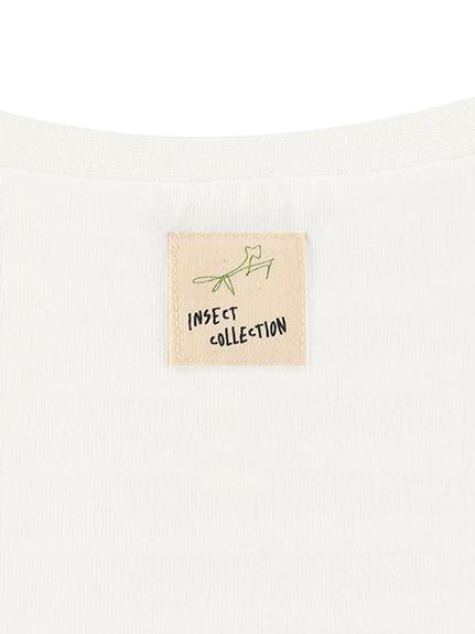 大人もとんぼさんプリントTシャツ ホワイト オーガニックコットン使用