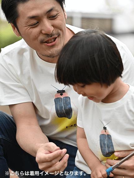 【予約商品】大人もとんぼさんプリントTシャツ ホワイト オーガニックコットン使用