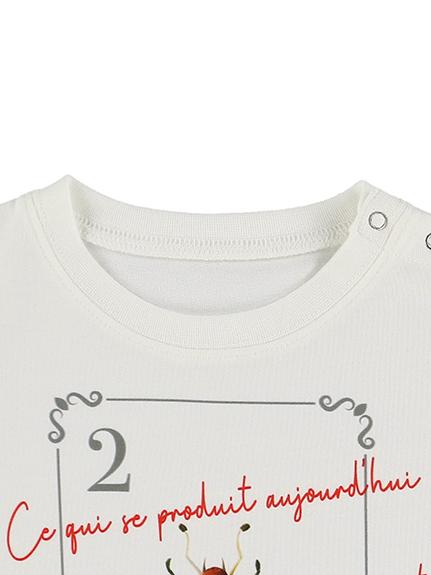 KODOMO SDGs Message Tシャツ 100%再生ペットボトル アリ blanc
