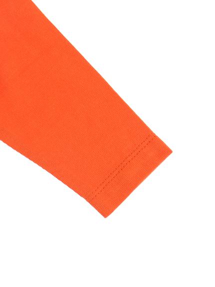 NO INSECT NO LIFE くわがたくん刺繍ラグラン長袖Tシャツ オレンジ キッズ オーガニックコットン使用