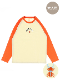 大人も!NO INSECT NO LIFE くわがたくん刺繍ラグラン長袖Tシャツ オレンジ オーガニックコットン使用