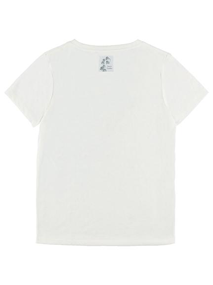 【予約商品】OTONA Nombre プリント100%再生ペットボトルTシャツ クワガタ8 blanc【2月中発送予定】