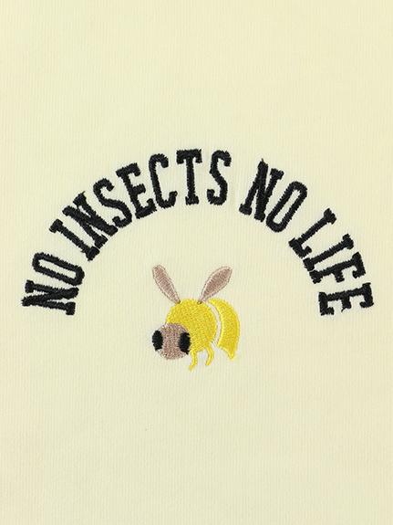 大人も!NO INSECT NO LIFE はちちゃん刺繍ラグラン長袖Tシャツ ハニーイエロー オーガニックコットン使用