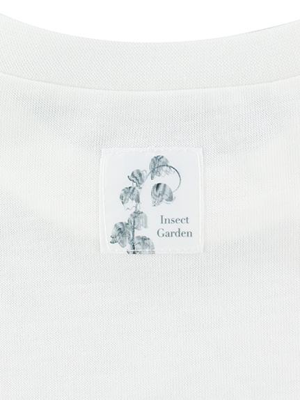 OTONA Nombre プリント100%再生ペットボトルTシャツ タマムシ12 blanc