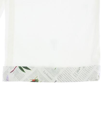 OTONA ロングパンツ Encyclopedie blanc