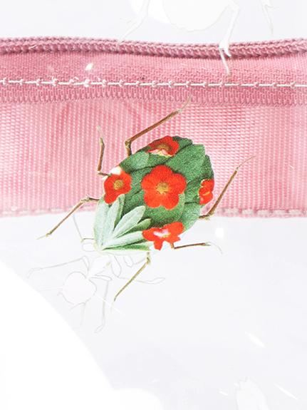 ランダムInsecte エコレザーストラップ ビニールリュック rose