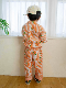 【かまきりくんリラックスシャツ】速乾・アイロン要らずな総刺繍ストライプ スカイ