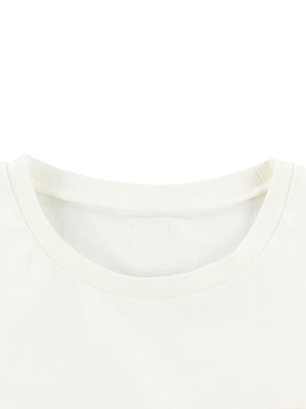 大人もかまきりくんプリントTシャツ ホワイト オーガニックコットン使用