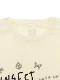 大人も!光が反射する昆虫リフレクターブランドロゴTシャツ ホワイト オーガニックコットン使用