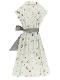 【予約商品】OTONA Encyclopedie ウエストベルトワンピースドレス blanche 【2月中発送予定】