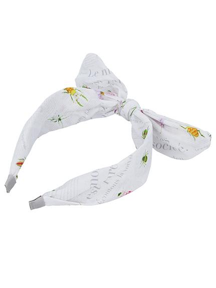 Encyclopedie リボン付きカチューシャ blanc