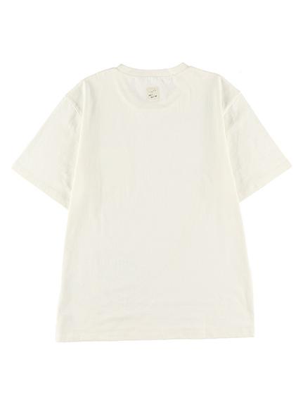 大人も!抗ウィルスなど高機能!太陽に当たると昆虫大脱走Tシャツ ホワイト オーガニックコットン使用