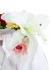 【予約商品】Special アーティフィシャルフラワーブローチ付きワンピース blanc【2月中発送予定】