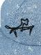 大人も!昆虫サイン・モノグラムデニムキャップ インディゴ