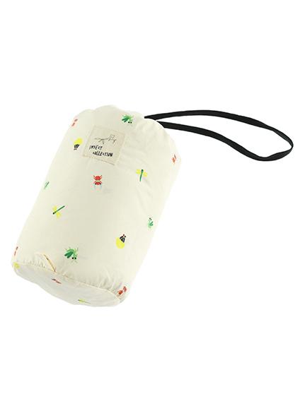 昆虫集合ライトダウンジャケット(収納ポーチ付き) ホワイト キッズ