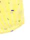 【かぶとむしくんリラックスシャツ】速乾・アイロン要らずな総刺繍ストライプ レモン