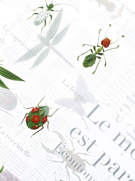 【受注商品】Encyclopedie バイカラーエコレザーストラップ トート transparent【4月中発送予定】