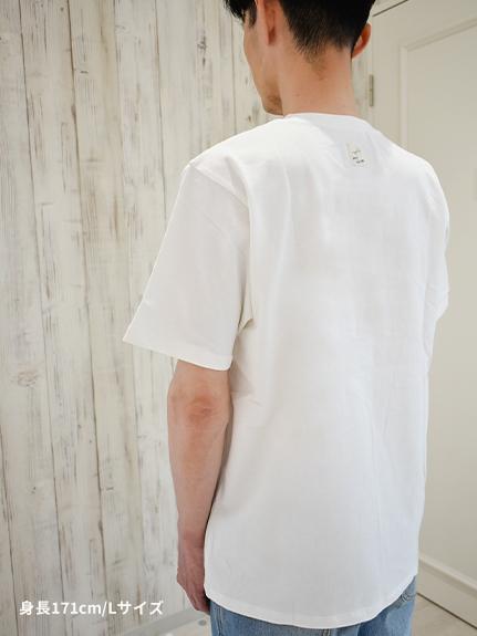 大人も!インセクトコレクション限定 DisneyデザインTシャツ<Mickey&Ladybug> ホワイト オーガニックコットン使用
