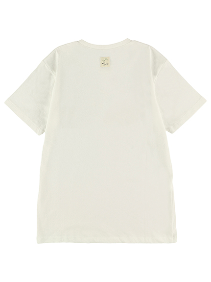 【予約商品】大人も!インセクトコレクション限定 DisneyデザインTシャツ<Mickey&Ladybug> ホワイト オーガニックコットン使用【6月上旬発送予定】