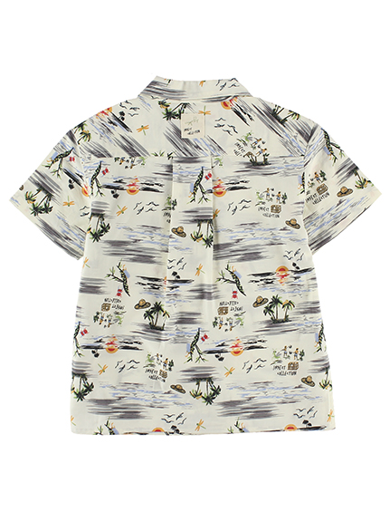 昆虫集合アロハシャツ きなり キッズ