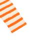 さがら刺繍かまきりくんボーダー長袖Tシャツ オレンジ オーガニックコットン使用