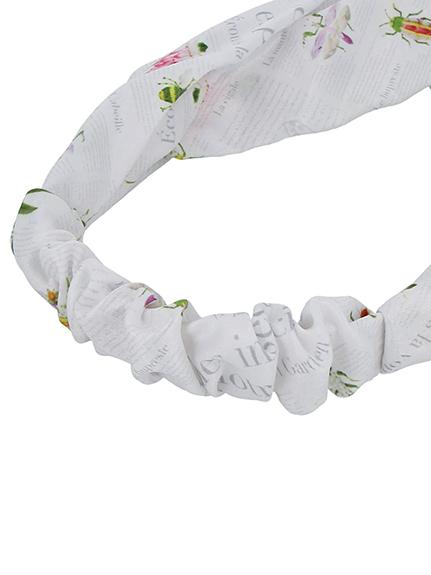 OTONA Encyclopedie クロスヘアバンド blanc