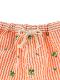 【かまきりくんリラックスパンツ】速乾・アイロン要らずな総刺繍ストライプ オレンジ