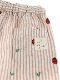 【てんとうむしちゃんリラックスパンツ】速乾・アイロン要らずな総刺繍ストライプ カフェオレ