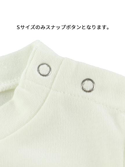 カマキリサイン ロープ刺繍長袖Tシャツ アイボリー オーガニックコットン使用