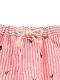【てんとうむしちゃんリラックスパンツ】速乾・アイロン要らずな総刺繍ストライプ ピーチ