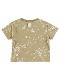 抗ウイルス・抗菌・防汚・消臭ビッグ昆虫サイン・モノグラムTシャツ ベージュ オーガニックコットン使用