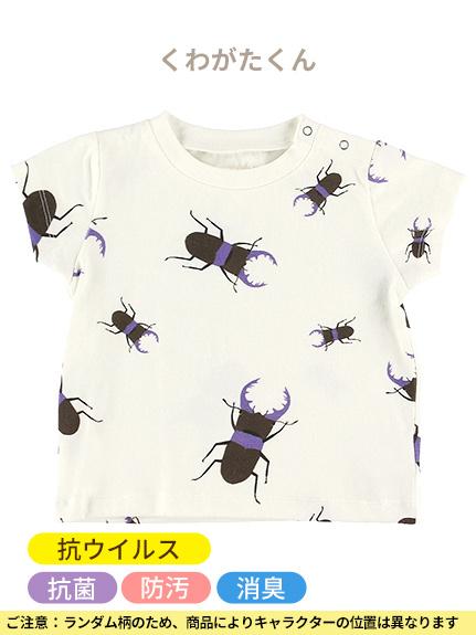 抗ウイルス・抗菌・防汚・消臭ランダム昆虫Tシャツ オフホワイト オーガニックコットン使用