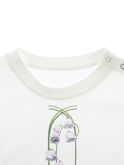 KODOMO IGフラワーロゴT blanc