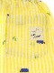 【かぶとむしくんリラックスパンツ】速乾・アイロン要らずな総刺繍ストライプ レモン