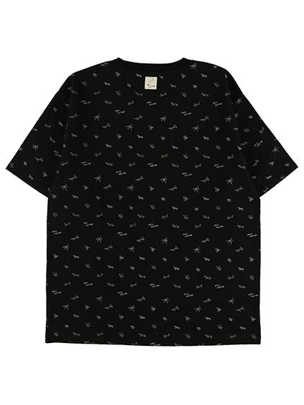 大人も!昆虫サイン・モノグラム Tシャツ ブラック