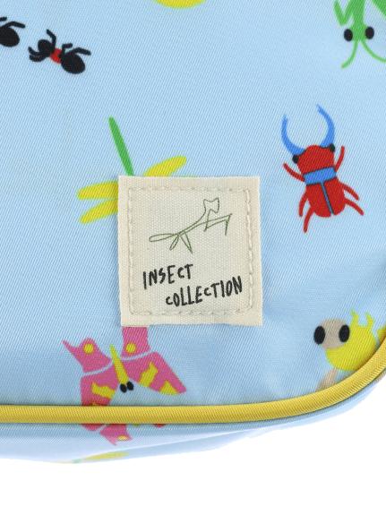 昆虫大集合スクールショルダーバッグ スカイブルー