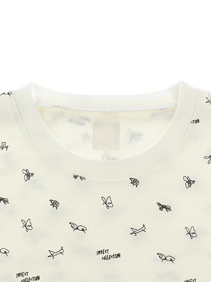 大人も!昆虫サイン・モノグラム Tシャツ ホワイト
