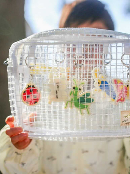 【予約商品】選べる昆虫キーホルダー!虫かごバッグ【7月上旬発送予定】
