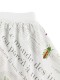 KODOMO 再生ペットボトル100% Encyclopedieギャザースカート blanc