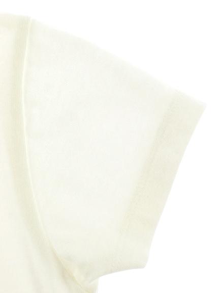 【予約商品】時間を学ぼう!抗ウイルス・抗菌・防汚・消臭昆虫時計Tシャツ オフホワイト オーガニックコットン使用【2月中発送予定】