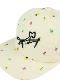シリコン刺繍カマキリサイン昆虫集合キャップ オフホワイト