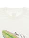 大人もたまむしちゃんプリントTシャツ ホワイト オーガニックコットン使用