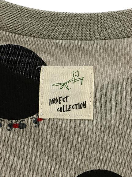 ありドット長袖Tシャツ グレージュ オーガニックコットン使用