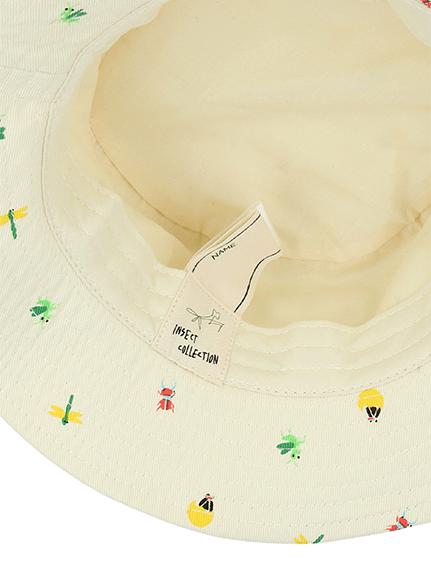昆虫集合ハット オフホワイト